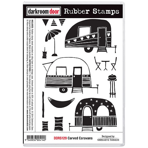 """Darkroom Door - """"Carved Caravans""""  Rubber Stamp"""