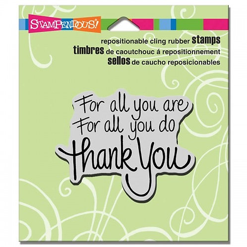 For All You Do Stampendous Cling Mount Rubber Stamps