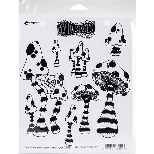 """Dyan Reaveley's Dylusions Cling Stamp  8.5""""X7""""There's not Mushroom in Here"""""""