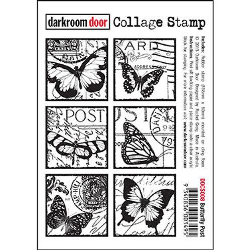 """Darkroom Door Collage Stamp - """"Butterfly Post"""""""