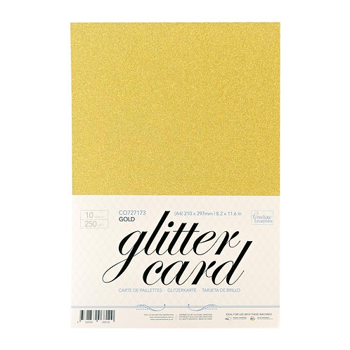 Glitter Card -Gold  A4 - 250gsm (10 sheets per pack)