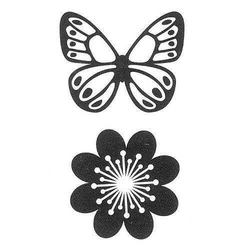 Momenta Foam Stamp Butterfly & Flower 4X4