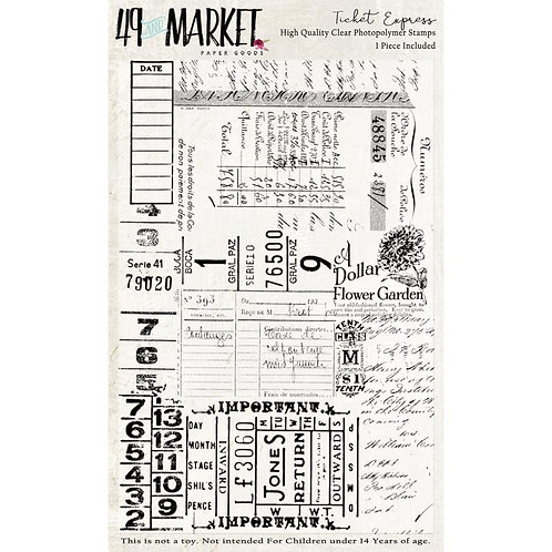 "49 Market Stamps - ""Ticket Express"""