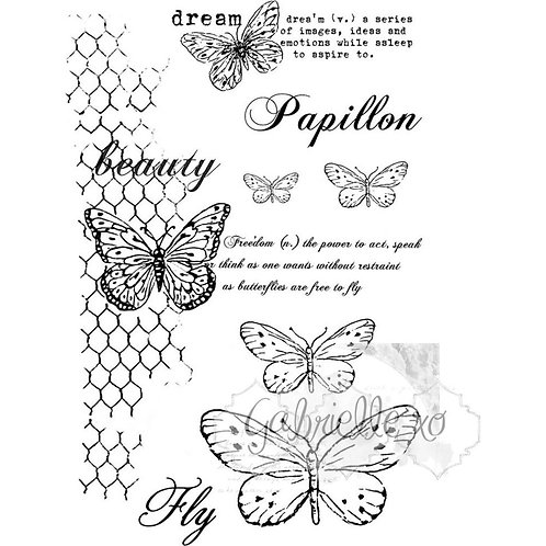 """49 Market Stamps - """"Butterflies are Free"""""""
