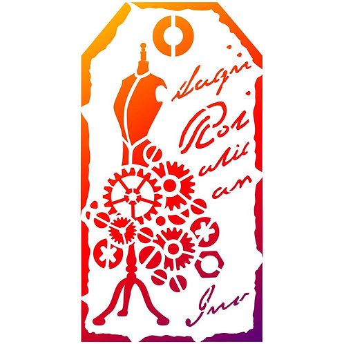 "Viva Decor Universal Stencil 5.83""X8.27"" ""Tag Dressmakers Dummy"""
