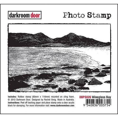 """""""Wineglass Bay"""" - Darkroom Door Photo Rubber Stamp"""