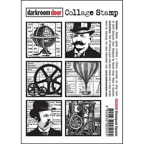 """Steampunk Squares"" - Darkroom Door Collage Stamp"