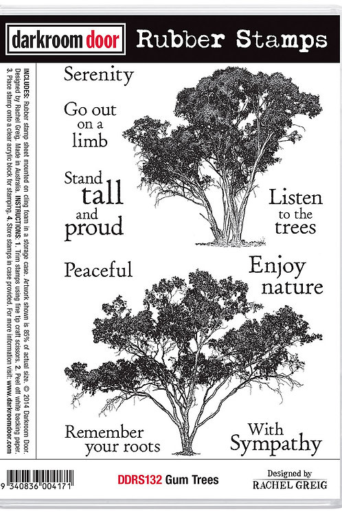 "Darkroom Door - ""Gum Trees""  Cling Rubber Stamp"