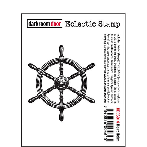 Boat Helm -Darkroom Door Eclectic Rubber Stamp