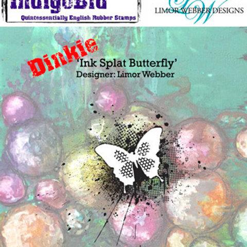 """IndigoBlu """"Ink Splat Butterfly"""" Dinkie Rubber Stamp"""
