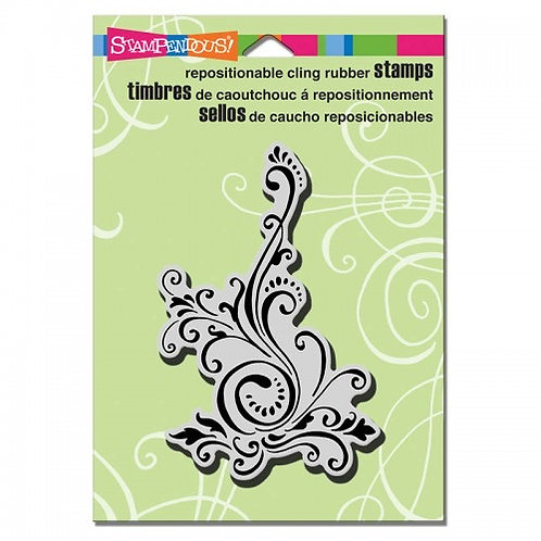 Elegant Scroll Stampendous Cling Mount Rubber Stamps