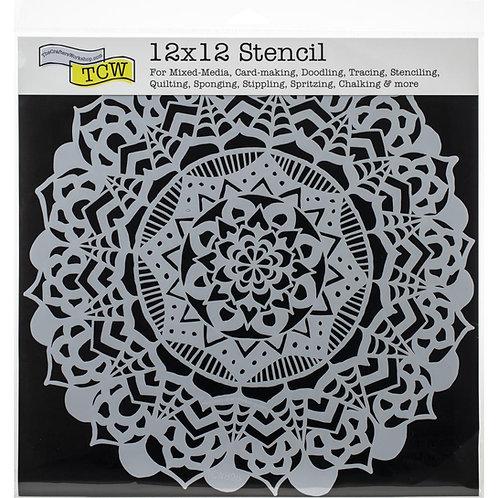 "TCW 12x12 Stencil ""Fancy Mandala"""