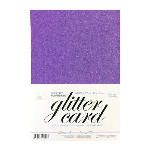 Glitter Card - Purple  A4 - 250gsm (10 sheets per pack)