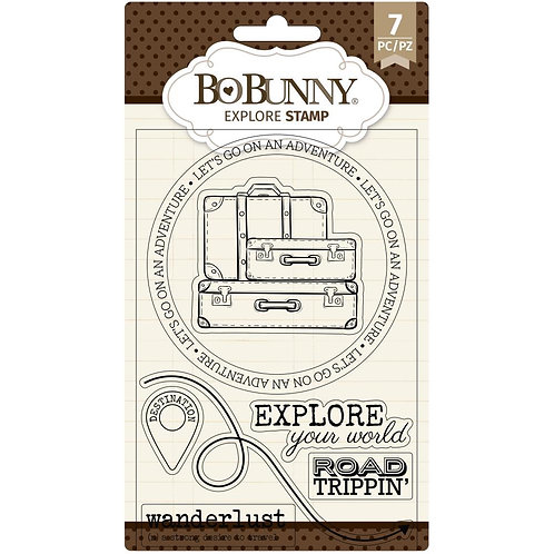 """BoBunny Clear Stamps 4""""X6"""" Explore"""