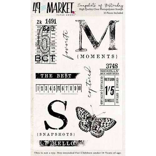 """49 Market Stamps - """"Snapshots of Yesterday"""""""