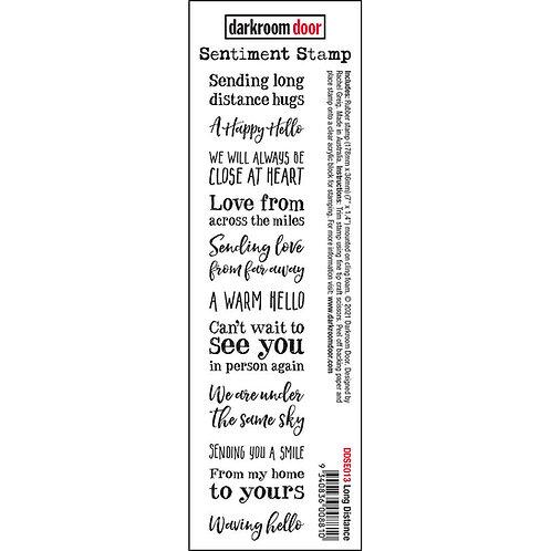 Darkroom Door - Long Distance Sentiment Rubber Stamp