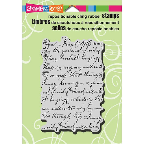 """Vintage Note""  Stampendous Cling Mount Rubber Stamps"