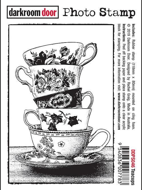 """Darkroom Door - """"Teacups"""" Photo Rubber Stamp"""