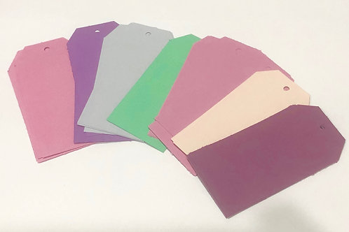 Assorted Pastel Colour Craft Tags Journal Tags 24pk