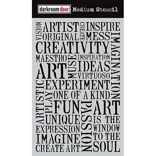 "Darkroom Door Large Stencil - 9x6 ""Creativity"""