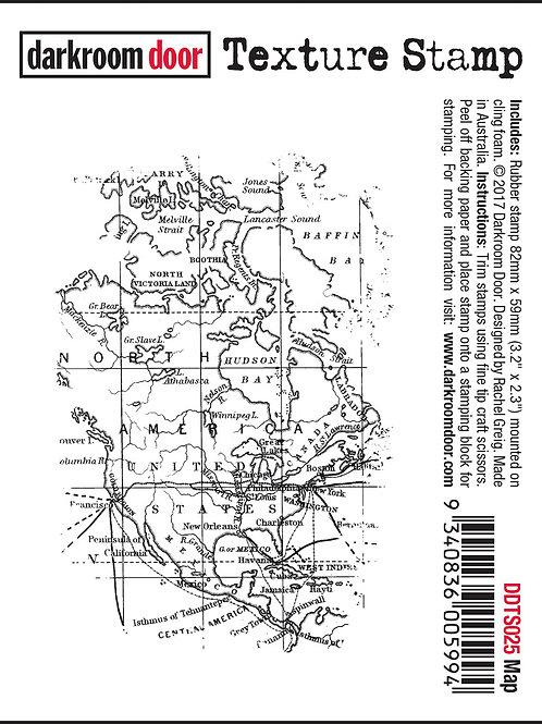 """Darkroom Door - """"Map"""" Texture Rubber Stamp"""