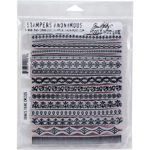 """""""Ornate Trims"""" Tim Holtz Cling Stamps 7""""X8.5"""" by Stampers Anonymous"""