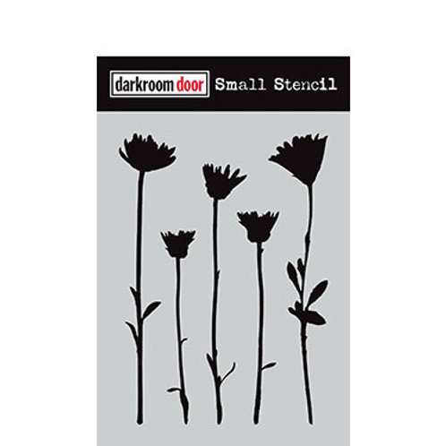 """Darkroom Door Stencil - """"Wildflowers""""   4.5"""" x 6"""""""