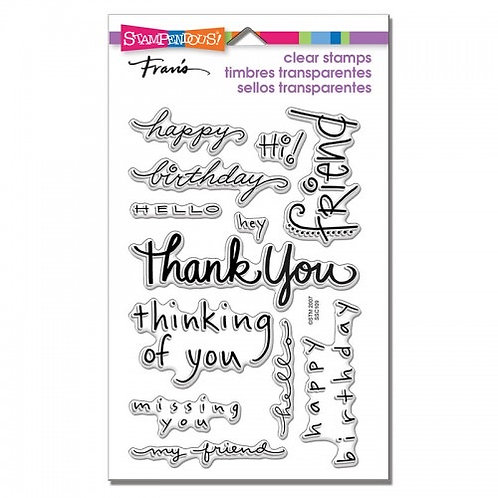 """Happy Messages Stampendous Clear Stamps by Laurel Birch 4""""x6"""""""