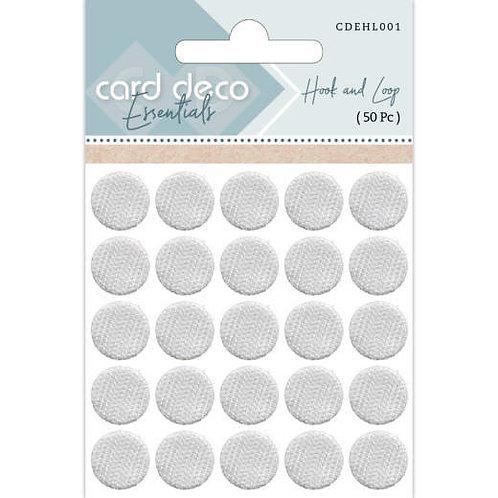 Card Deco Hook & Loop 50pc Velcrose Dots