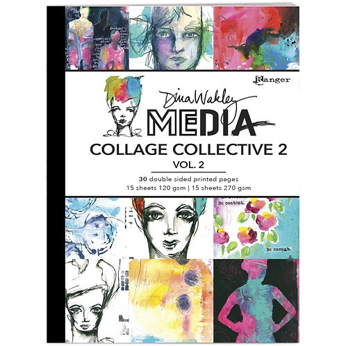 Dina Wakley Media Mixed Media Collage Collective Vol 2