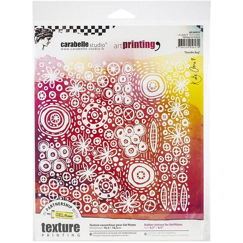 "Carabelle Studio Art Printing Rubber Texture Plate ""Doodle Bug"""