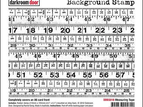 """Darkroom Door - """"Measuring Tape""""   Background Rubber Stamp"""