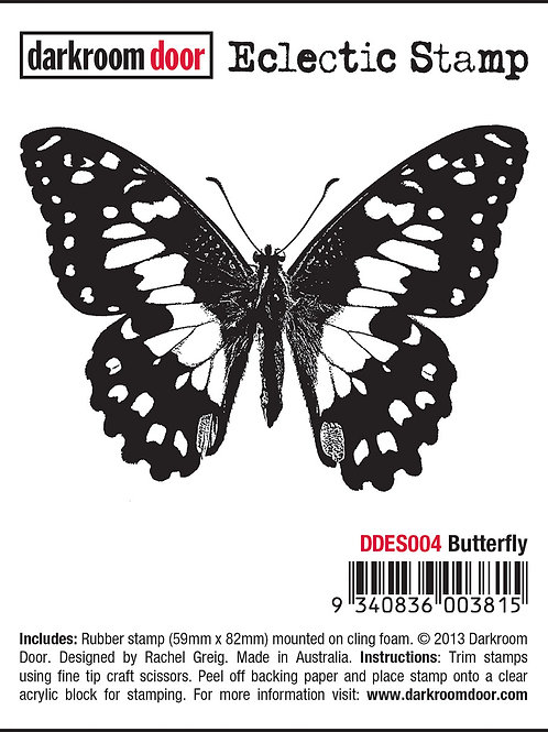 "Darkroom Door - ""Butterfly"" Eclectic Rubber Stamp"