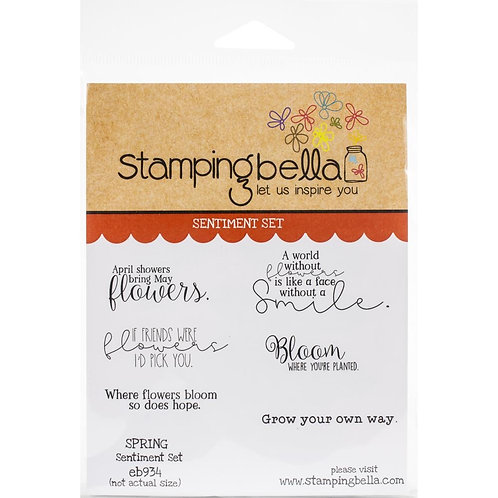 """Stamping Bella Cling Stamps """"Spring Sentiments"""