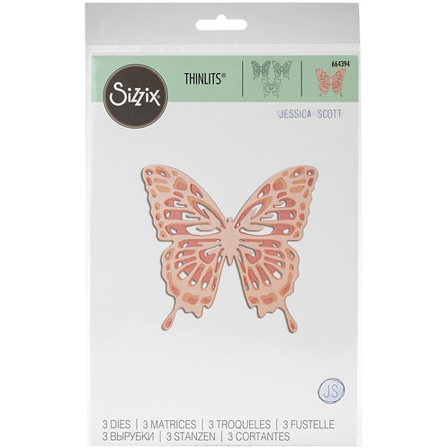 "Sizzix Thinlit Dies ""Intricate Wings"" by Jessica Scott 3pcs"