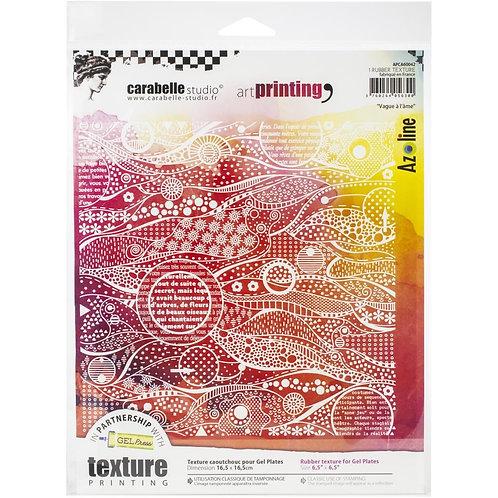 "Carabelle Studio Art Printing Rubber Texture Plate ""Vague a l ame"""
