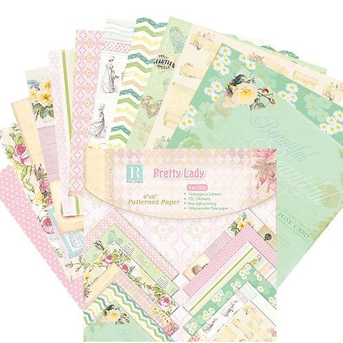 "6x6 inch ""Pretty Pink"" Design Paper Pack"