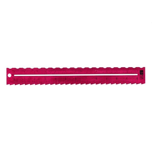 Birch Decorative Paper Tearing Ruler 300MM - 8 Zipper & Small Wave