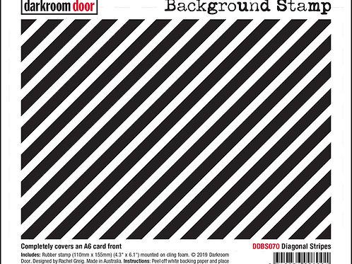 """Darkroom Door - """"Diagonal Stripes""""   Background Rubber Stamp"""