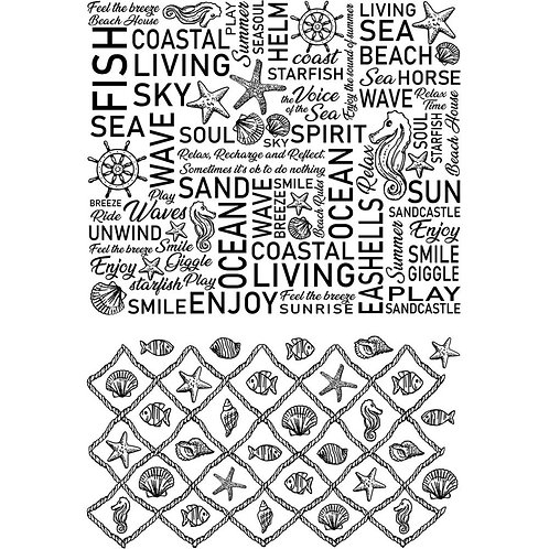"""Ciao Bella Stamping Art Clear Stamps 4""""X6"""""""