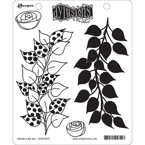 "Dylusions ""Branching Out"" Cling Rubber Stamps"