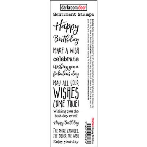 """Darkroom Door - """"Happy Birthday"""" Sentiment Rubber Stamp"""