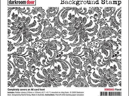 """Darkroom Door - """"Floral""""   Background Rubber Stamp"""