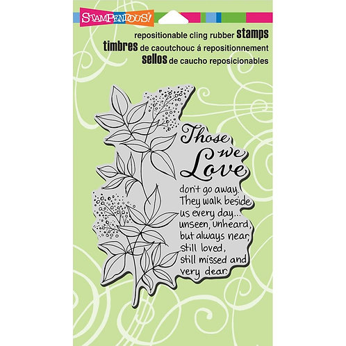 """""""Those We Love"""" Stampendous Cling Mount Rubber Stamps"""