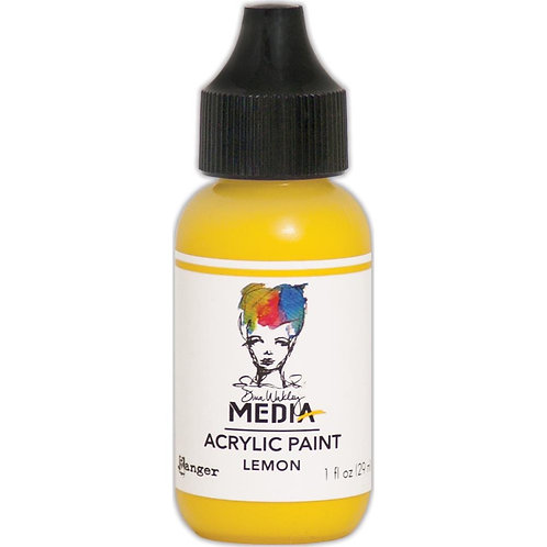 "Wakley Media Acrylic Paint 1oz ""Lemon"""