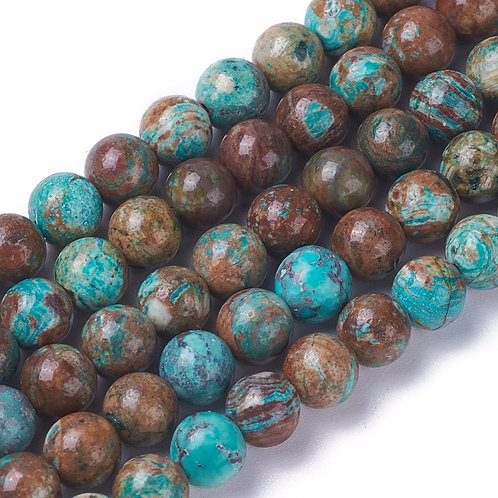 8MM Ocean Jasper Round Gemstone Beads.