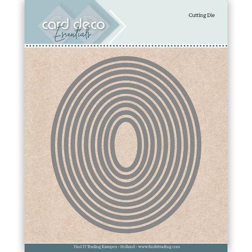 Card Deco Oval Cutting Dies 10pcs