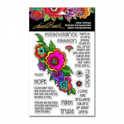 "Floral Reflections Stampendous Clear Stamps by Laurel Birch 4""x6"""