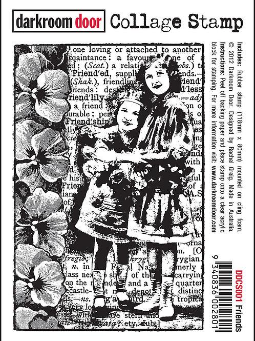 """Darkroom Door Collage Stamp - """"Friends"""""""