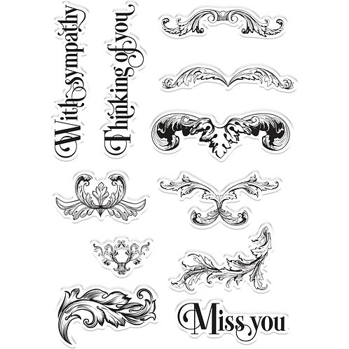 """Ornate Swirls"" Crafters Companion Photo Polymer Stamps"
